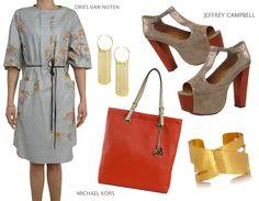 Michael Kors bag, Dries Van Noten dress, Jeffrey Campbell wedge  On www.deifashionstore.com