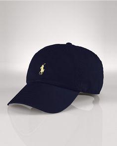 10f9611b19e Ralph Lauren Polo Cotton Chino Baseball Cap - Rl Black One Size