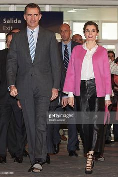 TM The King and Queen of Spain attend the opening of ARCO 2016  at Ifema on February 25, 2016 in Madrid, Spain.  (Photo by Carlos Alvarez/Getty Images)