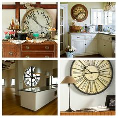 Decorate with antique clocks  Decorar con antiguos relojes