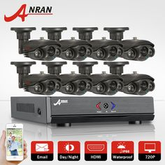 (412.29$)  Buy here - http://aibr8.worlditems.win/all/product.php?id=32785161354 - ANRAN 8CH DVR Kit AHD Camera Set 720P HD 1800TVL Outdoor IR Night Vision 1080N HDMI CCTV Home Video Surveillance Security System