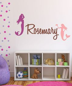 Take a look at this Mermaid Personalized Wall Decal by DecorDesigns on #zulily today!