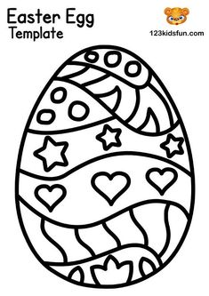 We have Free Easter Coloring Pages for Kids with Easter Egg, Easter Bunny, Easter Chick, Easter Basket. Kids will have lots of fun! Easter Bunny Template, Easter Templates, Bunny Templates, Easter Printables, Free Printables, Free Easter Coloring Pages, Easter Bunny Colouring, Easter Eggs Kids, Easter Egg Crafts