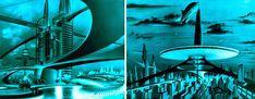 Dark Roasted Blend: Retro-Future: Glorious Urbanism Science Art, Science Fiction, Architecture Drawings, Retro Futurism, Urban Landscape, Concept Art, Sci Fi, Art Deco, Future