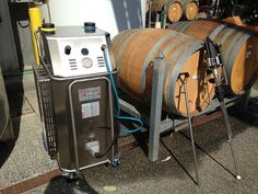 Wine Barrel Cleaning Demonstration with Bacchus Dry Steam systems in Sticks Winery, Victoria, Australia. Demonstration include sanitising and restoring stained oak barrels to remove Brettanomyces and deep clean surfaces.  For more information on wine barrel cleaning solutions, visit www.winebarrelcleaning.com.au or call 1300 577 722 Bacchus, Victoria Australia, Barrels, Cleaning Solutions, Deep Cleaning, Sticks, Restoration, Events, Wine