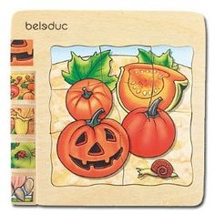 Beleduc - Pumpkin - 5-Layer Wood Puzzle