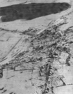 View of a Belgiam village during the Battle of the Bulge.