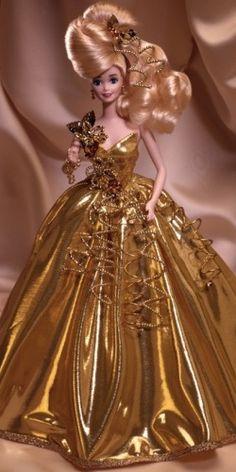 1993 Gold Sensation Barbie Doll when Barbies were so much better!!!
