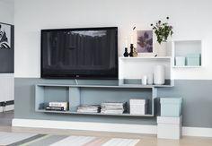 Smukt tv-hjørne for kun kr. Colorful Furniture, Unique Furniture, Cheap Furniture, Furniture Design, Furniture Removal, Living Room Modern, Home Living Room, Cozy Living, Living Room Inspiration