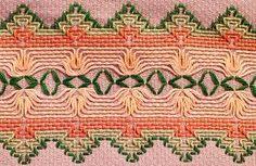 Huck embroidery.  More Swedish Weaving.  So beautiful!