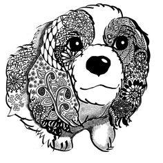 キャバリアキングチャールズスパニエルって長い名前なのね  #イラストレーション #illustration #instadog #キャバリアキングチャールズスパニエル #CavalierKingCharlesSpaniel #UTme #ユニクロ #uniqlo #suzuriで販売中  #suzurijp