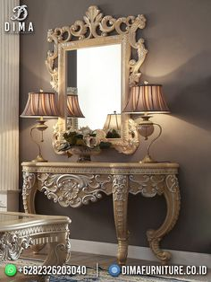 Royal Furniture, Country Furniture, Home Decor Furniture, Luxury Furniture, Decor Interior Design, Interior Decorating, Victorian Mirror, Traditional Mirrors, Luxury Dining Room
