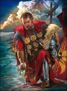 The Roman Centurion by Nathan Greene ~ at the foot of The Cross