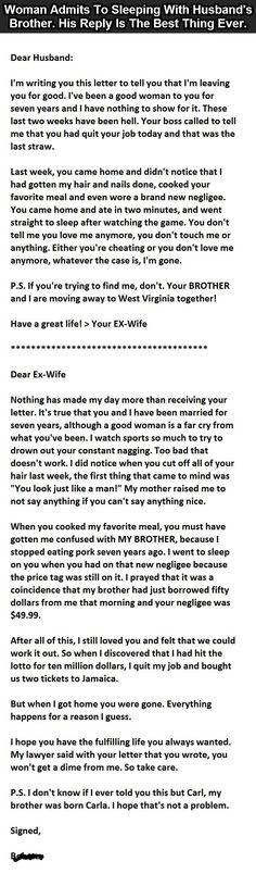 The Best Divorce Letter Ever. This Guy Nails It.