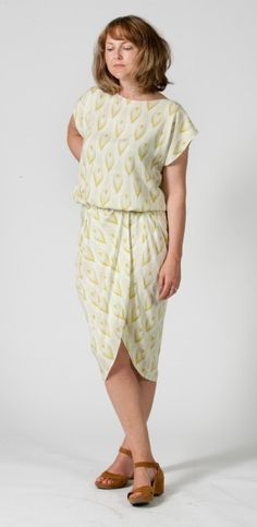 Curvy drape dress with a free pattern, but I'd want a different neckline