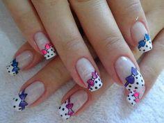 Polka Dots and Heart Nail art nails heart nail pretty nails polka dot nail ideas nail designs Heart Nail Art, Heart Nails, Latest Nail Designs, Nail Art Designs, Nails Design, Love Nails, Fun Nails, Tumblr Nail Art, Manicure