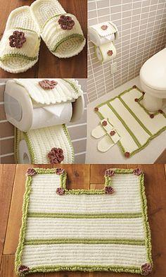Crochet bathroom set pattern. #crochet #crochet_pattern #bath #home