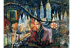 Luna Park: 1913 by Joseph Stella (Whitney Museum of American Art, NYC) - American Modernist - (Viewed as part of American Legends: From Calder to O'Keeffe Exhibit at the Whitney 10/5/2013)