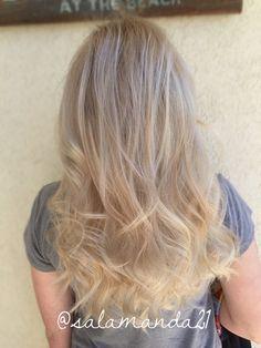 Perfect natural all over blonde balayage ombré done by me Manda Halladay @salamanda21