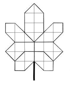 * Herfstblad van mozaïek figuren, mal 2-2