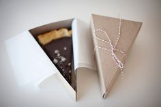 slice of pie/cake boxes - via sunday suppers (boxes from here: http://www.etsy.com/shop/petitmoulin)