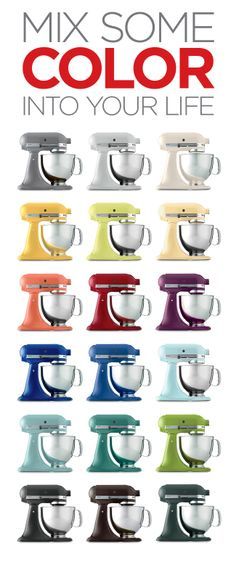 The Colorful World of KitchenAid Stand Mixers An Infographic