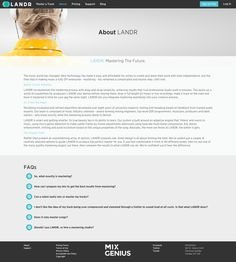 LANDR by MixGenius   About Page Layout, Layouts, Free Logs, Blog, Blogging, Layout Design, Layout