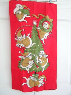 Vintage ANGEL Towel Mid Century Christmas by NeatoKeen on Etsy, $32.00