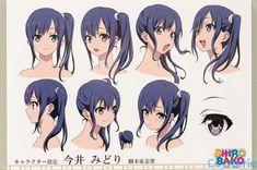 SHIROBAKO Character / #시로바코 캐릭터 설정집 #얼굴