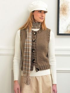 Perfect for spring or autumn, the cozy Button Up Vest is a great way to stay warm when the temperature isnt too cold.