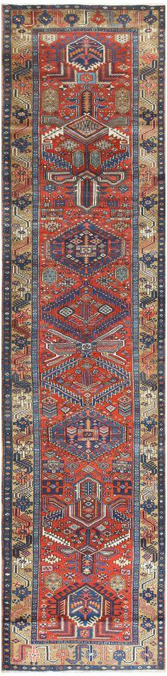 Antique Heriz Persian Runner 50175