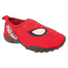 Toddler Boys Spiderman Water Shoe - Red