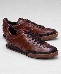 Leather Soccer Sneakers