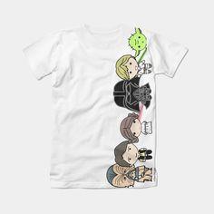 Camiseta Star Wars. Ilustración Rite Rite http://accesoriosriterite.blogspot.com.es/2015/03/camiseta-star-wars-personalizada-nacho.html