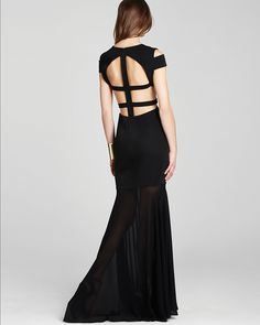 BCBGMAXAZRIA Gown - Off The Shoulder Cutout | Bloomingdales gorgeous