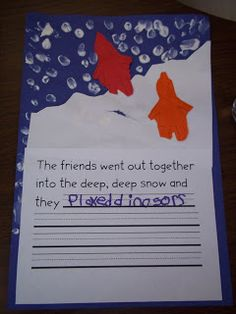 Mrs. Wood's Kindergarten Class: The Snowy Day