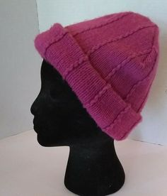7dbe7c3345d Something Special Womens Acrylic Knit Beanie Cap Raspberry Pink Winter Hat  OSFM  SomethingSpecial  Beanies