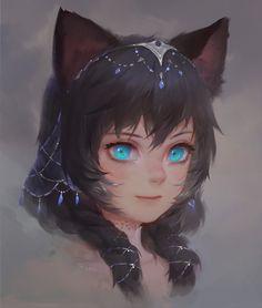 Fille-chat dites Neko