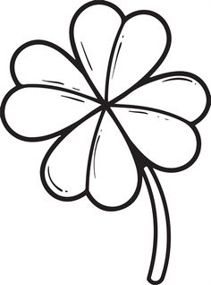 Four leaf clover St. Patrick's Day coloring page for kids. It's free and printable! http://www.mpmschoolsupplies.com/ideas/4491/four-leaf-clover-coloring-page/