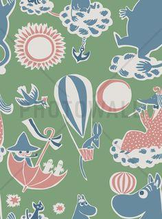 Moomin Retro Pattern - Green