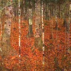 Master Bedroom-Gustav Klimt:Birch Forest