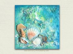 Reserved. Ocean Treasures  / Original Acrylic by TerraArtGallery