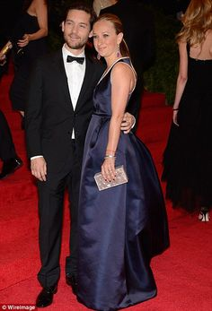 Toby Maguire of Spiderman fame in a beautiful notch lapel tuxedo at the Met Gala 2012!