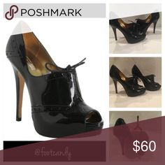 "REPORT Signature ""Ellis"" Black Patent Heels REPORT Signature ""Ellis"" Black Patent Leather Platform Bootie Heels. Size 9. Heel Height: 5"" (platform) Report Signature Shoes Heels"