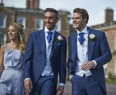 Grooms blue coloured wedding suits