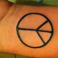 Peace tattoo, would have it smaller.