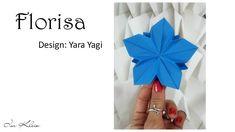 Esta flor criada por Yara Yagi em minha homenagem, além de linda é fácil de fazer!! Vamos aprender? Material: 5 folhas retangulares na proporção 1:2 Visite Y...