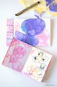 Bubble Print Journals