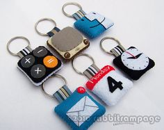 icon felt keychains