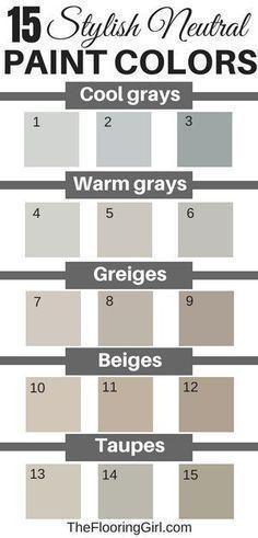 Stylish Neutral Paint Colors That Work In Almost Every Room 15 stylish neutral paint colors that work in almost every room. 15 stylish neutral paint colors that work in almost every room. Taupe Paint Colors, Exterior Paint Colors, Paint Colors For Home, Gray Beige Paint, Neutral Colors, Wall Painting Colors, Taupe Color Schemes, Best Greige Paint Color, Paint Schemes